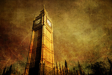 antik texturiertes Bild des Big Ben in London