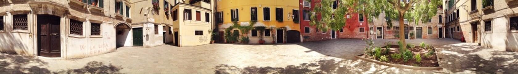 Panorama von Häusern in Venedig