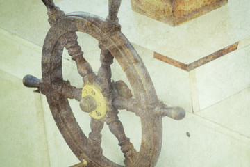 old ship's wheel