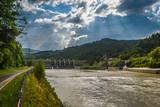 Waterdam on Sola river- Porabka ,Poland