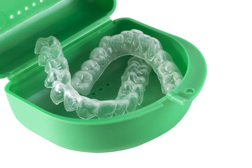 Mouth Guard - Orthodontic Retainers isolated on white