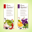 Herbs and spices banners vertical