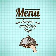 Restaurant menu design sketch