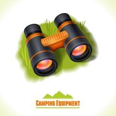 Camping symbol binocular