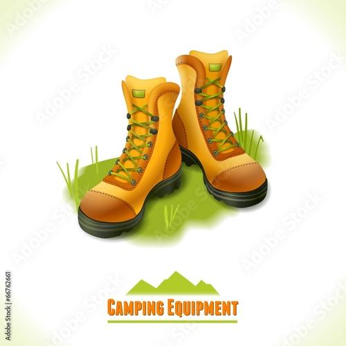 Camping symbol boots