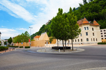 Downtown of Liechtenstein capital,