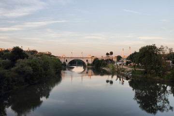 Flaminio bridge n Rome , Italy
