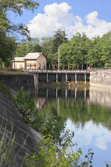 dam in Villoresi ditch, Lombardy, Italy
