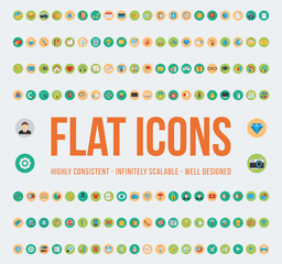 Web And UI Flat Icons Set - LUSHICONS