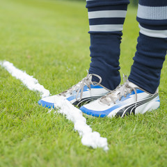 Soccer marking spray free kick line