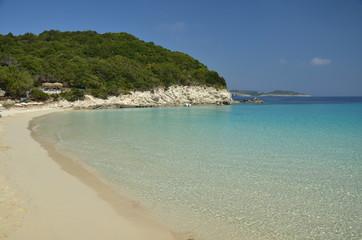 spiaggia di Antipaxos Grecia ionica