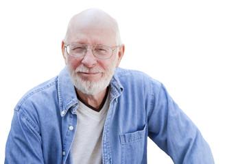 Handsome Senior Man Portrait on White
