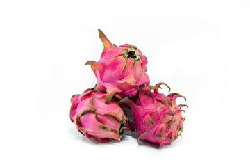 Dragon Fruit isolated against white background
