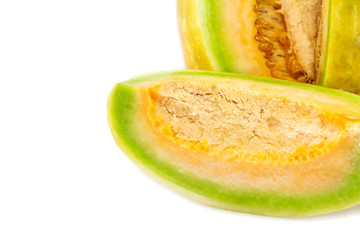 muskmelon on white background