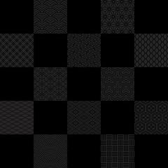 黒市松 おせち 広告用背景