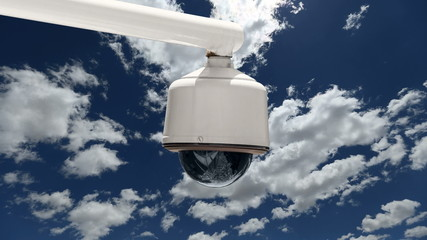 Security Camera With Time Lapse Clouds