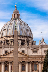 St. Peter's Basilica in Vatican City in Rome, Italy.