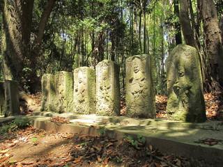 森林と石碑