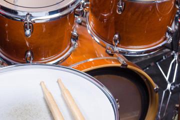 Drumsticks on drum