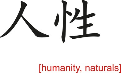 Chinese Sign for humanity, naturals