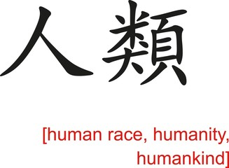 Chinese Sign for human race, humanity, humankind