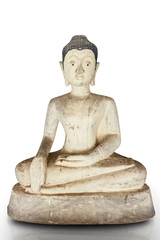 buddha statue made from lime