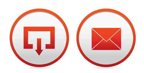 Exit and mail icons
