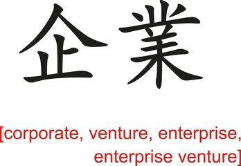 Chinese Sign for corporate, venture, enterprise