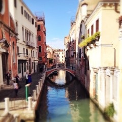 Historischer Kanal in Venedig