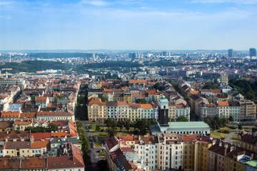 Prague, Czech Republic. View of the city from a survey platform