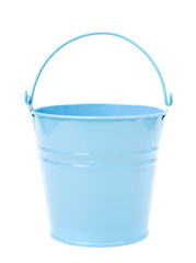 Blue, empty, home gardening bucket