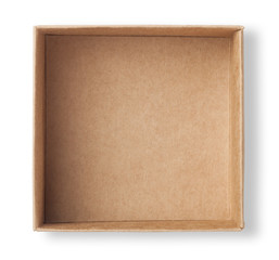 empty carton isolated on white