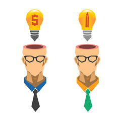 Dollar lightbulb, creative lightbulb