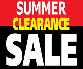 Summer Clearance Sale Promotion Label