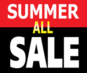 Summer All Sale Promotion Label
