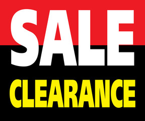 Sale Clearance Promotion Label