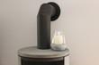 canvas print picture - Kamin Ofen mit Kerze