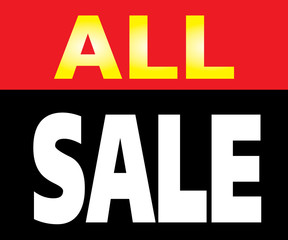 All Sale Promotion Label