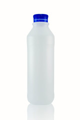 Plastic bottles on a white background
