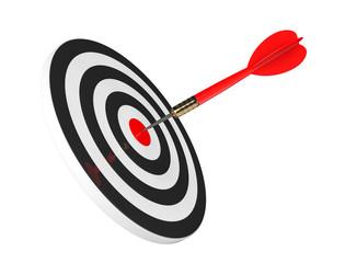 Darts Hitting The Target