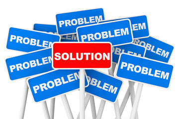 Problem and Solution banner signs