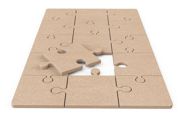 Cardboard Zigsaw Puzzle