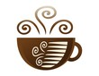 coffee cup logo,brown coffee icon,enjoy symbol