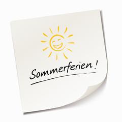 Sommerferien - Haftnotiz