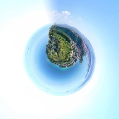 fantasy earth made with circular lens