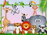 Fototapety jungle animals