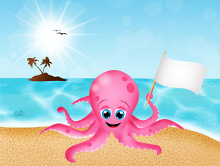octopus on the beach