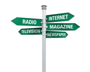 Sign Directions of Media Information