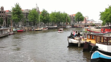 View of a canal in Amsterdam