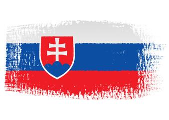 brushstroke flag Slovakia